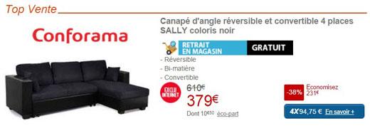 canap pas cher les bonnes adresses et promos en cours. Black Bedroom Furniture Sets. Home Design Ideas