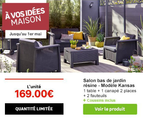 un salon de jardin moins de 170 chez leroy merlin. Black Bedroom Furniture Sets. Home Design Ideas